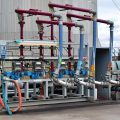 In Control Projects Four Arm Bottom Hose Loading Skid with Mechanical Batch Control