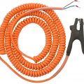 Timm Tanker Earthing System Coiled Cable With Grounding Clamp