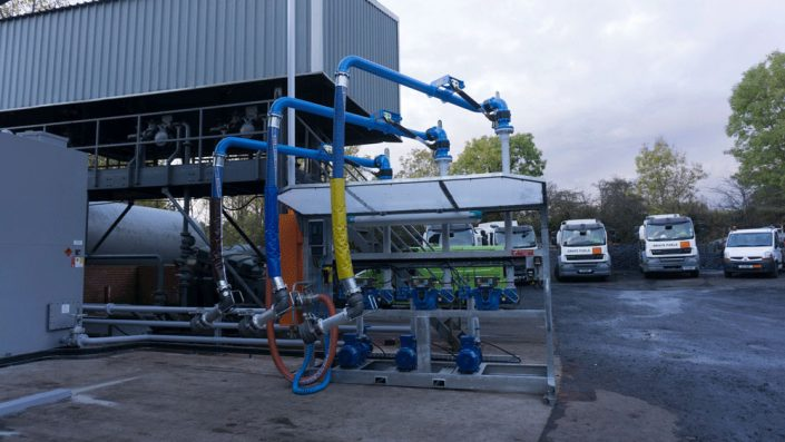 In Control Projects Three Arm Bottom Hose Loading Skid